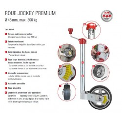 ROUE JOCKEY PRENIUM AVEC INDICATEUR DE CHARGE